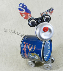 robot dog assemblage - GEORGE - Reclaim2Fame (Reclaim2Fame) Tags: sculpture dog art animal metal america vintage puppy robot assemblage mixedmedia patriotic american figure patriot redwhiteandblue foundobject recycledmaterials upcycled robotassemblage robotsculpture