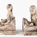 146. Cast Stone Indian & Canoe Bookends