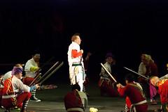 Clown sword fighters (Tex Texin) Tags: slash oakland circus clown dragons arena sword coliseum bros blades ringling ringlingbros barnumbailey oaklandarena oaklandcoliseum