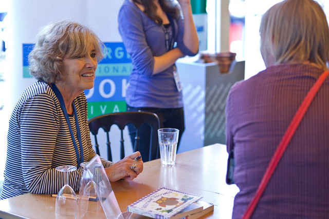 Clare Beaton book signing