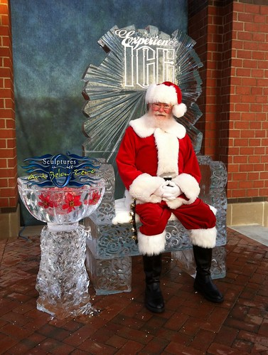 "Throne for Santa at ""Experience Ice"" ice sculpture"