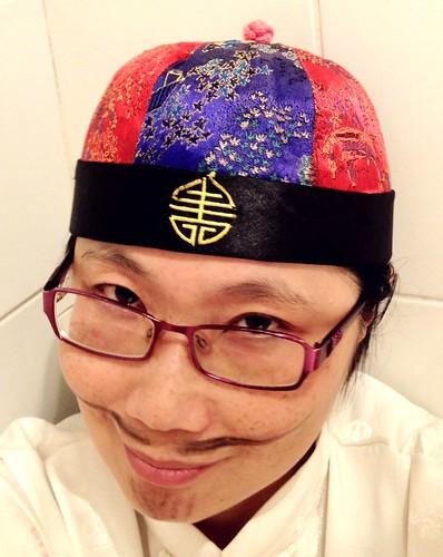 chinese cap mandarin scholar wacky 4s iphone selfie moustach theen