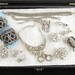 171. Tray Lot of Vintage Rhinestone Jewelry