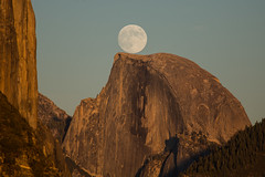 Moon Rise Behind Half Dome (Jeffrey Sullivan) Tags: california copyright usa moon jeff nature canon landscape photography photo october day full clear yosemite halfdome yosemitenationalpark sullivan sierranevada 2012 yosemitevalley tpe canon70200f4l 5dmarkiii thephotographersephemeris