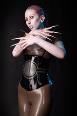 Efflectum Droid (Mark Perry Images) Tags: fashion fetish canon long rubber nails scifi latex alternative swpp