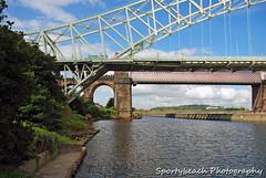 Manchester Ship Canal (jonnywalker) Tags: bridge river manchester canal warrington cheshire runcorn manchestershipcanal rivermersey runcornbridge