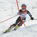 Ella RENZONI of BC takes 6th Place in the U14 Girls Slalom Race held on Whistler Mountain on April 6th, 2014. Photo by Scott Brammer - coastphoto.com