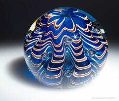 Sea Form Paperweight, April 2014 (Jeff Addicott) Tags: blue sea glass shiny sony form etsy paperweight pap sunstar glassart sonya7 leitzmacroelmarit12860 ilce7