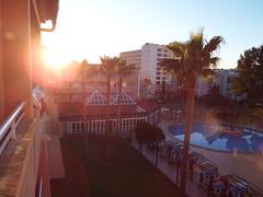 Watching the sun rise (Paranoid from suffolk) Tags: morning trees vacation sky sun holiday sunrise hotel early spring spain balcony palm mallorca majorca palmanova 2016 balearics