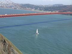 Boat Under Golden Gate Bridge, San Francisco, California (Yortw) Tags: sanfrancisco california bridge usa lumix golden march boat gate unitedstates unitedstatesofamerica panasonic northamerica northernhemisphere 2016 microfourthirds dmcg10