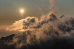 'Dragons Breath' - Y Garn, Snowdonia (Kristofer Williams) Tags: sunset cloud sun sunlight silhouette wales landscape evening snowdonia cloudscape ygarn elidirfawr