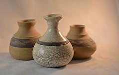 Ceramic Pots (Jo-Cooler Than Usual Summer...Yay!!!!!) Tags: stilllife ceramic three stripes pots pottery designs lightbox theflickrlounge