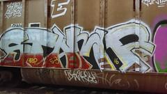 Stamp (Randall 667) Tags: street urban art car train island graffiti artwork artist exploring tracks stamp east providence writer rhode 53 freight tagger agb dery
