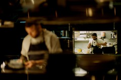 Cooking~~ (rick0530) Tags: street leica newzealand film cooking kitchen 50mm kodak cook streetphotography auckland noctilux leicam7 m7 filmphotography colorfilm negativefilm colourfilm colorstreetphotography kodakektar100 ektar100 noctiluxf1 rick0530 streetsinauckland rick0530com leica50mmnoctiluxf1