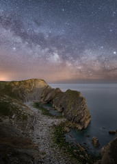 Milky Way above Stair Hole (DorsetScouser) Tags: longexposure sea beach stone night landscape coast seaside astro coastal astrophotography dorset limestone astronomy geology lulworth darksky westcountry milkyway rockformation darkskies lulworthcove durdledoor jurassiccoast stairhole dorsetscouser