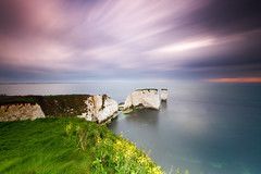 Old Harry Sunrise (mpelleymounter) Tags: longexposure morning sea cliff cloud seascape motion clouds sunrise landscape chalk tide dorset rockstack clifftop oldharry oldharryrocks leefilters cloudmotion dorsetlandscape bigstopper dorsetseascape leebigstopper markpelleymounter