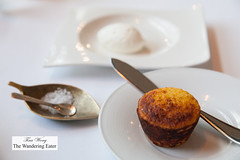 Fresh cornbread and JQ Dickinson salt (thewanderingeater) Tags: atlanta dinner georgia buckhead finedining restauranteugene
