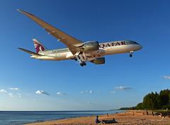 Qatar Airways B787-8 Dreamliner (will_thanat) Tags: boeing phuketairport qatarairways dreamliner boeing787