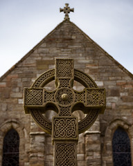 Cross at Parish Church of Saint Mary, Lindisfarne (S.R.Murphy) Tags: church cross religion northumberland crucifix lindisfarne religiousicon englishheritage cruciform lindisfarnepriory canon24105mm canon6d april2016