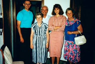 West Germany    -    HerbornSeelbach     -    John, Giesela, Fritz, Jessica & Oma    -    19 August 1989