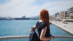 (marirenaa) Tags: trip sea sky sun me girl port fun ginger redhead greece redhair volos