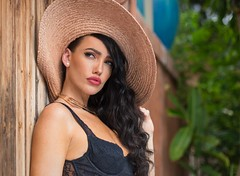 Hana (Gary Fikes) Tags: woman love girl beautiful beauty hat fashion portraits hawaii nice model glamour maui lips daytime removedfromstrobistpool incompletestrobistinfo seerule2