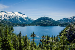 Bedwell Lake from the Viewpoint (Roshine Photography) Tags: ca mountain canada landscape outdoor britishcolumbia hill ridge vancouverisland boardwalk mountainside strathconapark mountainpeak islandview biginteriormountain bedwelllake bedwelllaketrail comoxstrathconad