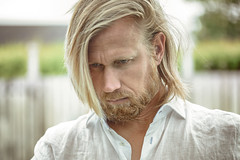 'Nordic genes' (Akapov Photography) Tags: selfportrait man male me canon hair beard eyes longhair moi swedish 100mm blonde nordic viking hombre selife