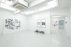 "Mayko Nakamura solo show "" One equals Two equals One (II) "" at Gallery Hinoki BC, Kyobashi, Tokyo (Photo by Ryoma Suzuki) (mayakonakamura) Tags: white abstract ink painting paper grey tokyo gray monotone exhibition solo automatic expressionism blackand nakamura kyobashi washi mayako soloshow semiabstract emaki mayakonakamura galleryhinoki galleryhinokibc ryomasuzuki"