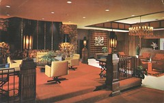 Sheraton O'Hare Motor Hotel - Rosemont, Illinois (The Cardboard America Archives) Tags: vintage hotel illinois postcard motel lobby sheraton