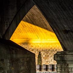 or (zventure,) Tags: square gold dawn soleil nice pont var lignes forme carr cailloux abstrait dor aube galets alpesmaritimes brises bordsduvar zventure