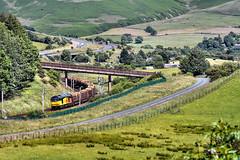 Beckfoot Logs (whosoever2) Tags: uk greatbritain railroad england train nikon unitedkingdom timber logs railway chirk cumbria gb colas kronospan class60 beckfoot 60026 d7100 6j37