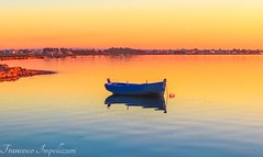 Boat (Francesco Impellizzeri) Tags: sunset water reflections landscape sicilia trapani