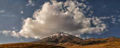 The Roof of Iran (Saeid Aghaei) Tags: sky panorama cloud mountain nature clouds iran damavand cloudy peak panoramic mount  saeid            aghaei   iranmap   iranmapcom