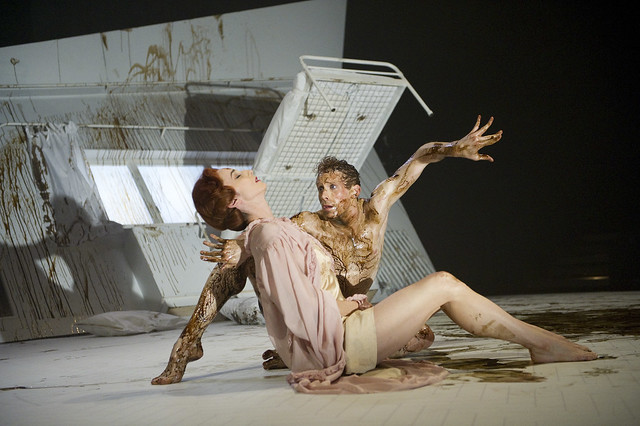 Edward Watson as Gregor Samsa and Nina Goldman as Mrs Samsa in The Metamorphosis © ROH 2011