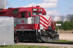 The North End (Wide Cab) Tags: train switch crew local freight wsor oshkoshwi l595 wisconsinsouthernrailroad oshkoshsub