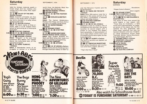 TV Guide Ad For ABC Shows 1974