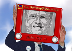 Mitt Romney - Etch A Sketch - The Shake-N-Fake...