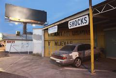 Evening, Sunnyslope, 2012 (GC_Dean) Tags: street arizona urban phoenix space garage autorepair hdr highdynamicrange blanksign 52weeks sunnyslope sociallandscape earlyeveninglight subtlehdr 20125214