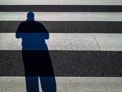 Fat man on the crossing (Daniel Kulinski) Tags: street shadow bw sun white man black men back google europe crossing phone image walk daniel fat creative pass picture cellphone cell samsung poland front note smartphone galaxy zebra warsaw imaging 1977 android mazowieckie cellphonesamsung kulinski daniel1977 samsungimaging samsunggalaxy instagram samsunggalaxynote danielkulinski