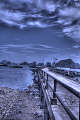 Deck (HunggNguyen) Tags: world bridge bay long 7 vietnam deck waters ha hdr wonders
