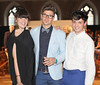 Fiona Mullen, Darren Kennedy & James Kavanagh pictured at the ebay.ie fashion show at Smock Alley Theatre, part of the ebay.ie online fashion week. Photo: Anthony Woods.