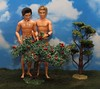 In the Garden of Ethan (FashionistaKen) Tags: apple boys fruit garden naked nude doll ken barbie pear eden