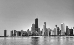 Yesterday Morning (Beatrycze.) Tags: chicago beach skyline lakemichigan johnhancock hdr northave northavebeach johnhancocktower oakstreetbeach