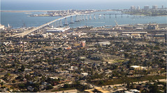 Aerial view of Coronado Bridge (San Diego Shooter) Tags: bridge flying sandiego coronado coronadobridge downtownsandiego sandiegocityscape aerialshotofsandiego