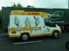 Mister Softee (kenjonbro) Tags: white ford yellow kent transit 100 a2 onthemove 2007 mistersoftee rwd softicecream kenjonbro fujihs10 t330s vf07ymk
