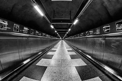 T-Centralen (Daniel Borg) Tags: blackandwhite white black eye canon underground sweden stockholm wideangle tunnel fisheye 8mm p