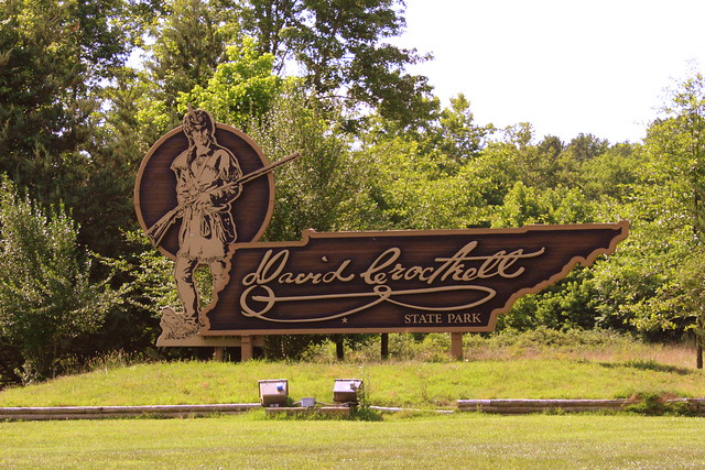 David Crockett State Park entrance sign