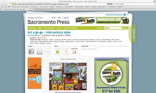 "Sacramento Press: ""Art a go-go - mid-century style."" July 19, 2012"