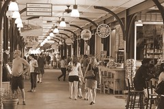 Interior of The French Market (the_dude771) Tags: ocean street new city trees light sky food moon house signs galveston brick water coffee caf grave car sign marie night train french dead mexico dessert louis pier corn orleans louisiana ship texas gulf cross shot cathedral market buried south tomb arc deep joan du quarter wreck monde bourbon chicory pleasure voodoo laveau beignets